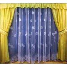 Záclona kusová - Zahrádka 210x300 cm (bílá)