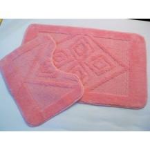 Koupelnová předložka 2-dílný set (růžové kosočtverce) Veratex