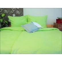 Luxusní francouzské saténové povlečení Traventina zelené 2x70x90 + 240x200cm Veratex