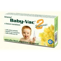 Kojenecká odsávačka hlenů - Arianna Baby-vac 2 s čisticím kartáčkem Morchella