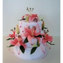 Svatební Textilní dort 3-O třípatrový Veratex