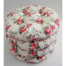 Sedák prošívaný kulatý průměr 40 cm (růžičky)