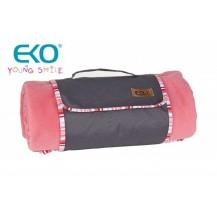 Pikniková deka POLAR 150x150cm - růžová EKO STYLE