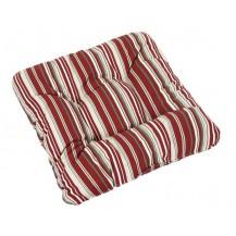 Sedák ADÉLA prošívaný 40x40x cm (červený proužek)