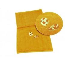 Osuška fotbal 70x140 (5 sytě žlutá) Veratex