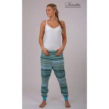 Dámské pyžamové kalhoty Veronika - azurová XXL Vienetta