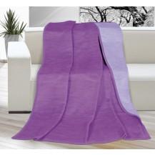 Deka Kira PLUS jednolůžko 150x200cm tm.fialová/fialová