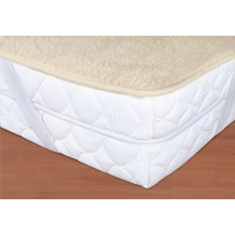 Vlněný chránič matrace 90x200cm bílý