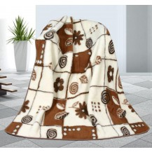 Vlněná deka 155x200cm Variace 450g/m2 - Evropské merino Brotex