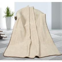 Vlněná deka 155x200cm béžová 450g/m2 - Evropské merino Brotex