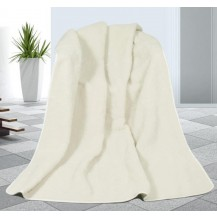 Vlněná deka DUO 155x200cm bílý beránek 520g/m2- Australské merino Brotex