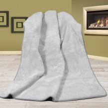 Vlněná deka DUO 155x200cm šedá UNI 520g/m2 - Alpaca