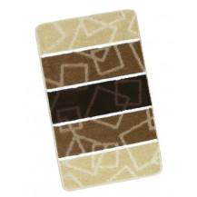 Koupelnová předložka 60x100cm Čtverce hnědé Brotex
