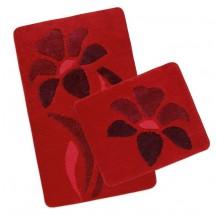Koupelnová SADA ULTRA 60x100+60x50cm Kytka červená Brotex