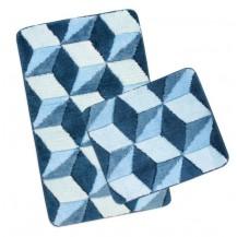 Koupelnová SADA ULTRA 60x100+60x50cm Krychle modré Brotex