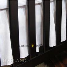 Krásný volánek pod matraci - Srdíčko bílé