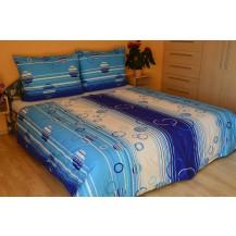 Povlečení bavlna 140x200, 70x90cm Kruhy modré Brotex