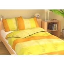 Povlečení francouzské bavlna 240x220,70x90 Duha žlutá, Výběr zapínání: nitěný knoflík