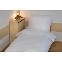Povlečení bavlna UNI 140x200, 70x90cm Bílá, Výběr zapínání: hotelový uzávěr