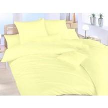 Povlečení bavlna UNI 140x200, 70x90cm Světle žlutá, Výběr zapínání: hotelový uzávěr