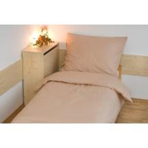 Povlečení bavlna UNI 140x200, 70x90cm Béžová, Výběr zapínání: hotelový uzávěr