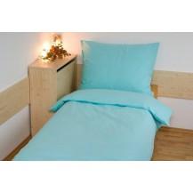 Prodloužené povlečení bavlna UNI 140x220, 70x90cm Zelená, Výběr zapínání: hotelový uzávěr