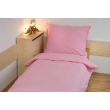 Prodloužené povlečení bavlna UNI 140x220, 70x90cm Růžová, Výběr zapínání: hotelový uzávěr