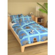 Povlečení dětské bavlna velká postel Safari modré Brotex