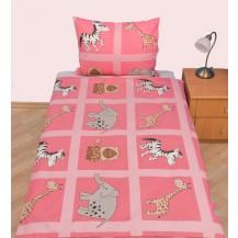 Povlečení dětské bavlna velká postel Safari růžové Brotex