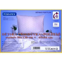 Dětská prošívaná souprava deka + polštář (45x64 / 90x130 cm) bílá Veratex