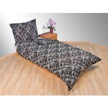 Prodloužené povlečení bavlna 140x220, 70x90cm Kašmír černý, Výběr zapínání: zipový uzávěr