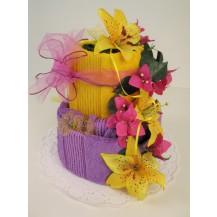 Textilní dort 2-q dvoupatrový Veratex