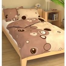 Přehoz přes postel dvoulůžkový Retro béžové, Výběr rozměru: 240x220cm