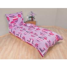 Přehoz přes postel dvojlůžkový Šachovnice lila Brotex