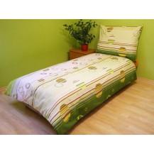 Přehoz přes postel dvojlůžkový Kruhy zelené Brotex