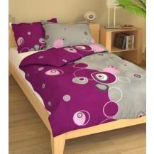 Přehoz přes postel jednolůžkový Retro fialové, Výběr rozměru: 140x220cm