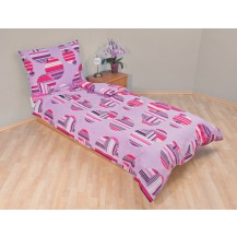 Přehoz přes postel jednolůžkový Šachovnice lila Brotex