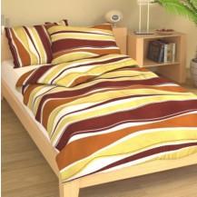 Přehoz přes postel jednolůžkový Vlnění hnědé Brotex
