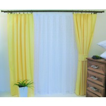 Závěs Orlando světle žlutý - výška 130/ šířka 150cm