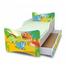 Dětská postel a šuplík/y Dino