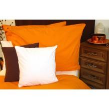Bavlněný povlak na polštář 70x90 cm oranžový