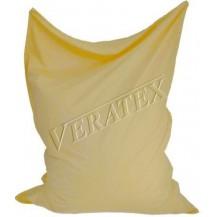 Sedací vak-pytel cca 140 x 180 x 30 cm (béžový) Veratex