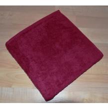 Froté ručník 50x100cm bez proužku 450g vínový
