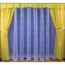 Záclona kusová - Hvězdička 250x400 cm (bílá)