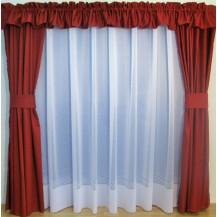 Záclona kusová - Sára 150x300 cm (bílá)