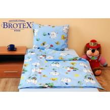 Povlečení dětské bavlna velká postel Dalmatin modrý, Výběr zapínání: nitěný knoflík