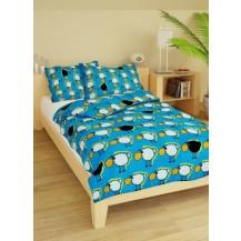 Povlečení dětské krep velká postel Ovečky modré Brotex