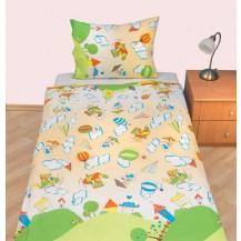 Povlečení dětské krep velká postel Letadýlko béžové Brotex