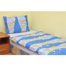 Povlečení dětské krep velká postel Žirafa modrá Brotex