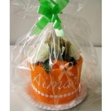 Textilní dortík se jménem 50x100 cm ( 8-oranžový)